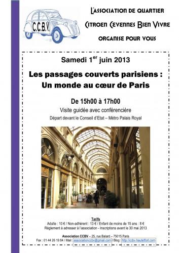 passages couverts parisiens,ccbv,visite