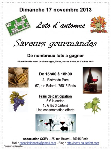 loto,association,ccbv,paris 15,automne