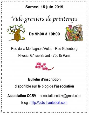 paris 15, vide-greniers, association, ccbv