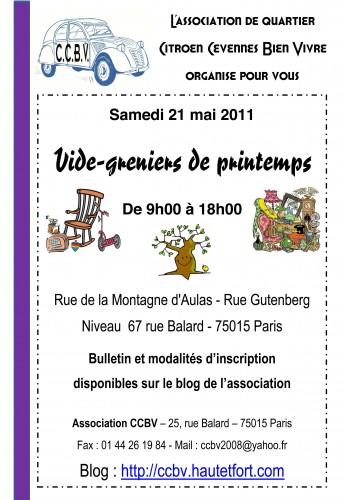 vide greniers,ccbv,2011,printemps,paris 15, citroën,boucicaut,balard